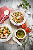 Gemüseeintopf mit Toulouser Bratwurst