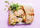 Quesadillas mit Gemüse und Käse