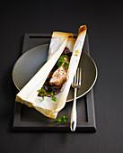 Salzig-süsse Hühnerbrust en Papillote