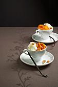 Kürbis-Cappuccino mit Ahornsirup und Vanille