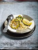 Barkoukech mit Couscous und Zucchini (Marokko)