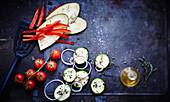 Vegetables to be prepared a la plancha