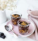 Schnelles Birnen-Schokoladen-Dessert