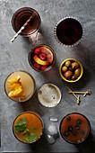Verschiedene Getränke zum Aperitif
