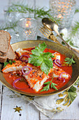 Kabeljau in Tomatensauce (Weihnachten)