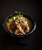 Kaninchen-Cocotte mit Apfelwein