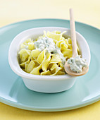 Pasta with Roquefort cheese