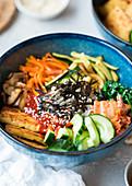 Vegetarisches Bibimbap (Korea)