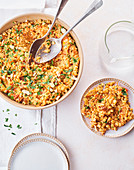 Barley risotto with candied tomatoes