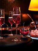 Cocktail mit Chambord-Brombeerlikör