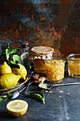 Lemon jam with ginger
