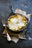 Roquefort,ricotta and spinach lasagnes