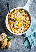 Fish stew with leeks