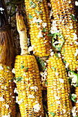Roasted corn on the cobs