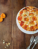 Soft almond and apricot cake