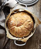 Brot im Kochtopf gebacken