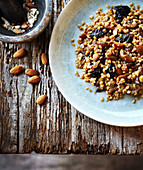 Spelt risotto with chestnuts and prunes