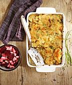 Salt-cod and potato gratin