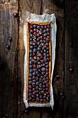 Traubentarte mit Muscat-Trauben (Italien)