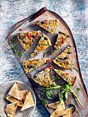 Vegetable omelette appetizer
