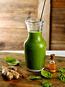 Green juicewith essential oils