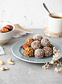 Date,coconut and cacao energy balls