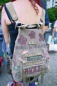 Punk with backpack, Germany