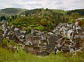 View over Monschau, Eifel, Germany