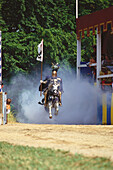 One knight on horse, Kaltenberger Ritterspiele, Upper Bavaria, Germany