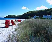 Beach chairs, Seaside resort Binz, Ruegen, Germany