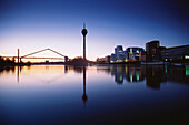 Early morning at Zollhafen, Duesseldorf, North Rhine-Westphalia, Germany