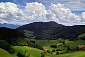 Clouds over Black Forest, Landwasser Eck, Black Forest, Baden-Wuerttemberg, Germany