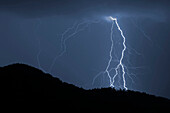 Thunderstorm over Black Forest, Hausach, Black Forest, Baden-Wuerttemberg, Germany