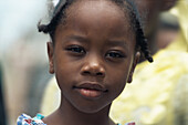 Young coloured girl, St. Lucia, Caribbean