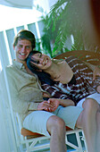 Laughing couple, Cruise ship Aida, Caribbean, America