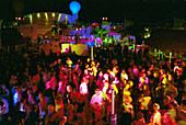 People dancing at a disco on deck, Cruise ship Aida, Caribbean, America