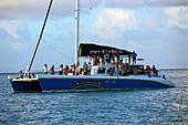 Catamaran for tourist trips, St. Lucia, Caribbean