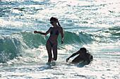 Panama City Beach, Swimming girls Florida, USA