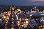 Oktoberfest at night, Munich, Bavaria, Germany