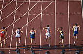 100 meter runners starting