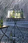Wein und Regen