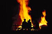 Midsummer fire, Upper Bavaria, Germany