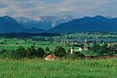 Foothills of Bavarian Alps, Upper Bavaria, Germany