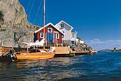 Houses at the sea, Kyrkesund, Tjoern Island, Bohuslan, Schweden