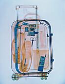 Koffer bei der Durchleuchtung