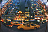 High rise buildings and taxis at Madison Avenue, Manhattan, New York USA, America
