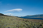 Landschaft mit Wolke