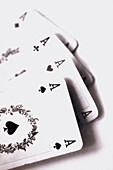 Card game, four aces