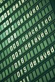 Anunciator panel, flight information, airport