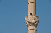 Muezzin, Minarett einer Moschee, Myra, Lykische Küste Türkei